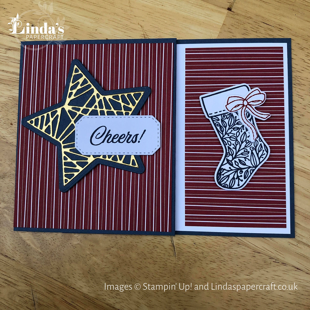 Picture of the finished hand made gift card holder made using the Tidings of Christmas suite from Stampin' Up!