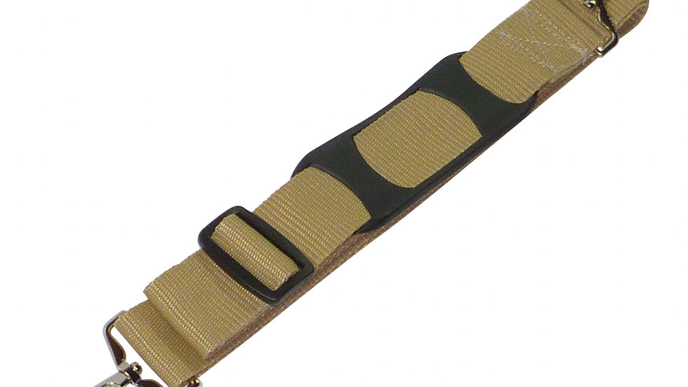 38mm Bag Strap with Metal Buckles and Shoulder Pad, 150cm