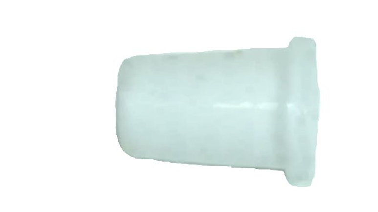 4mm cord bell-shaped end in white