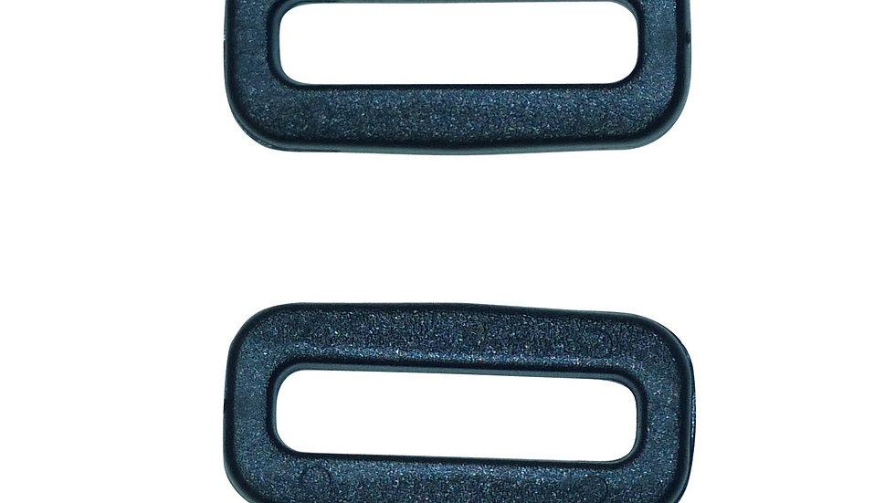 20mm plastic square or rectangular ring in black plastic