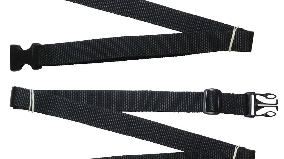 25mm Webbing Strap with Quick Release & Length-Adjusting Buckles (Pair)