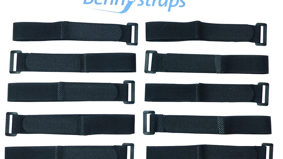 25mm Hook and Loop Cinch Straps (Pack of 10)