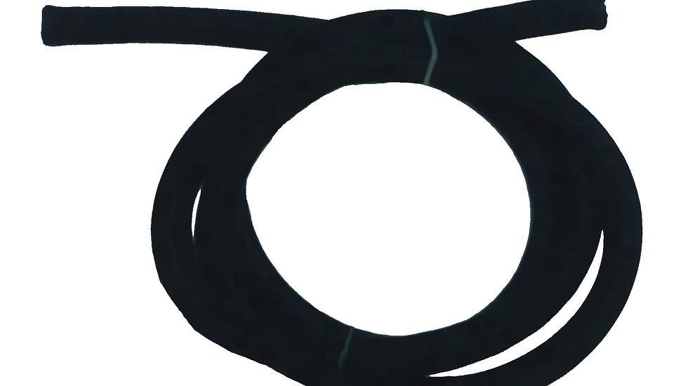 8mm shock cord in black, per metre