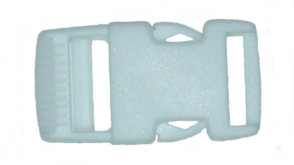 25mm plastic side release buckle in white