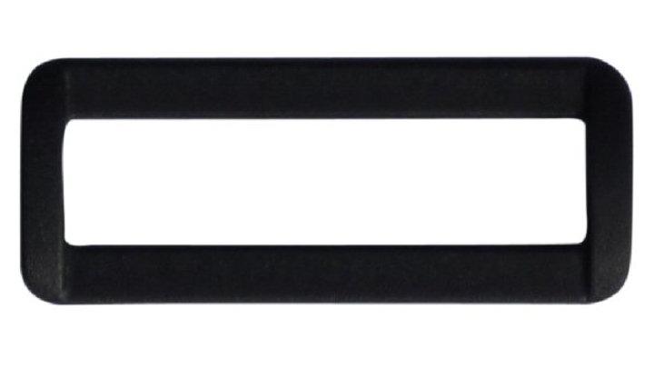 50mm plastic square or rectangular ring in black plastic