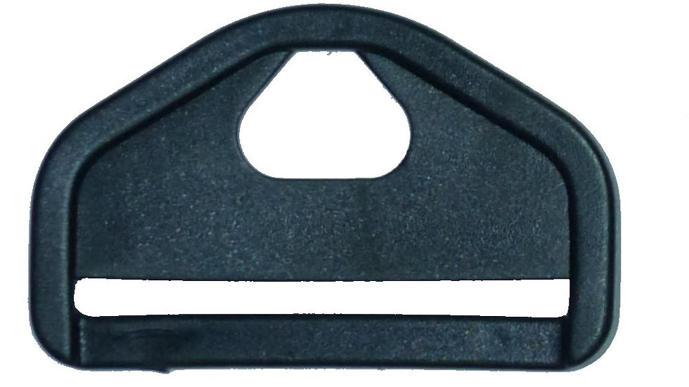 50mm black plastic strong triangle with slot and hole