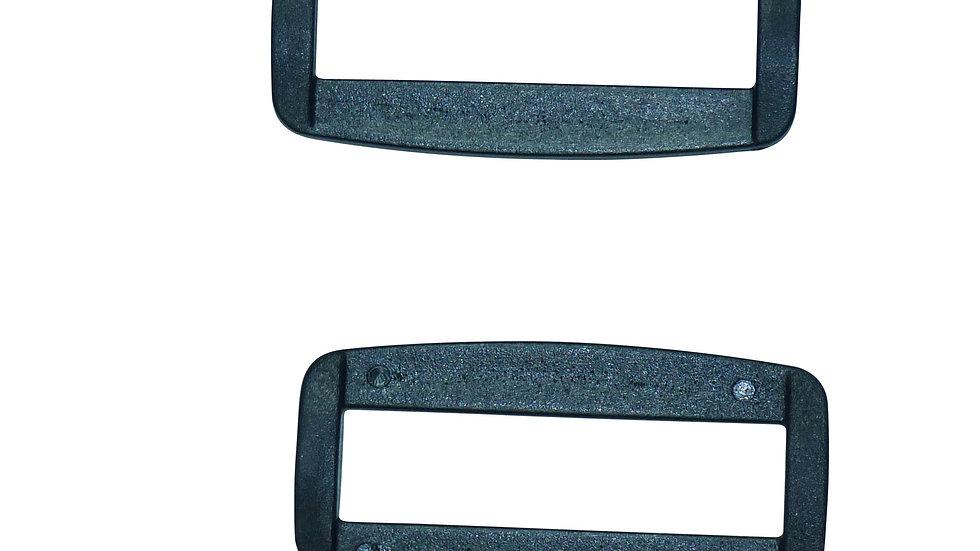 40mm plastic square or rectangular ring in black plastic