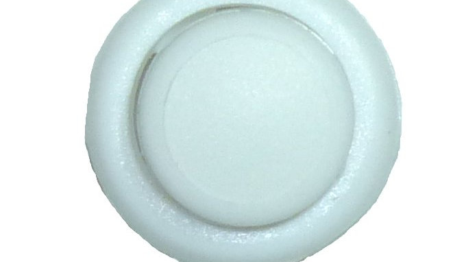 4mm twin-hole dome-shaped cord lock in white