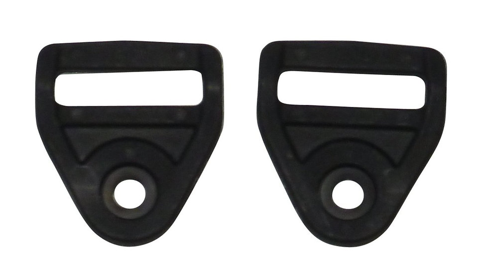 25mm anchor plate in black plastic