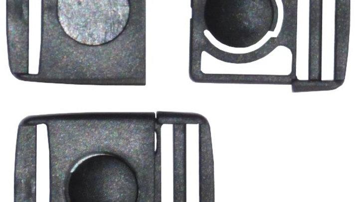 25mm button centre release buckle