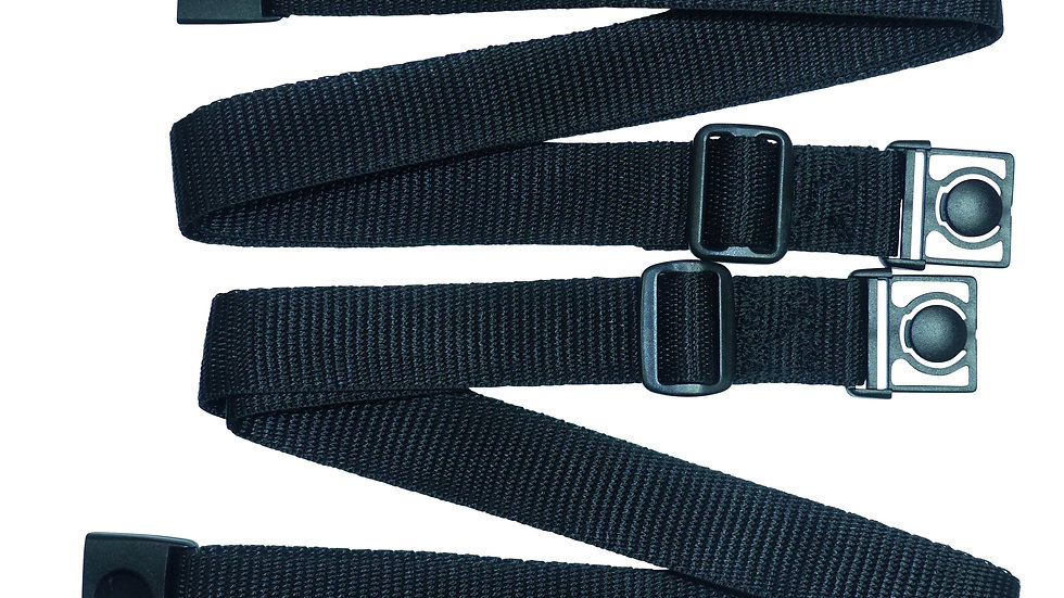 25mm Webbing Strap with Button Release and Triglide Slider Buckles (Pair)