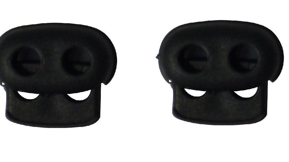 4mm twin-hole cord lock in black