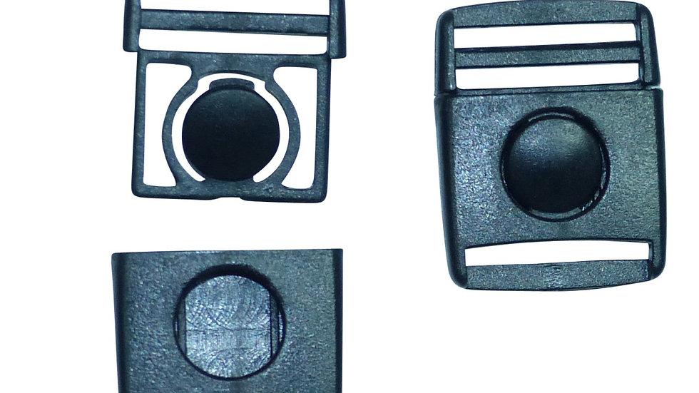 20mm button centre release buckle