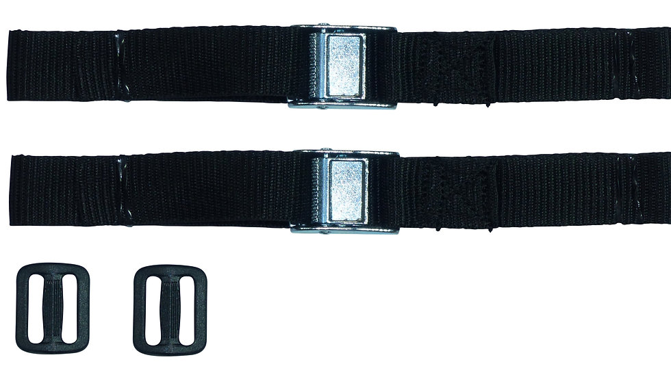 25mm Webbing Strap with Alloy Cam Buckle (Pair)
