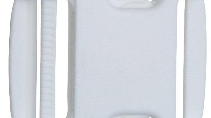 50mm plastic side release buckle in white