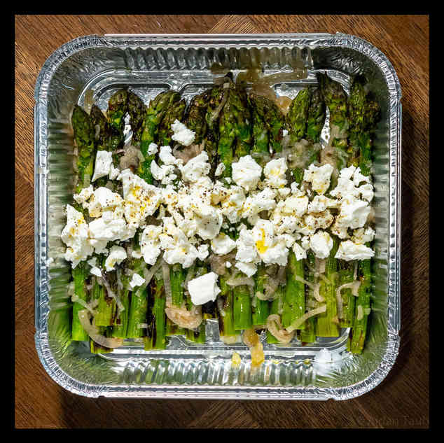 Asparagus, shallot vinaigrette, feta