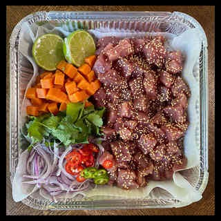Spicy tuna ceviche