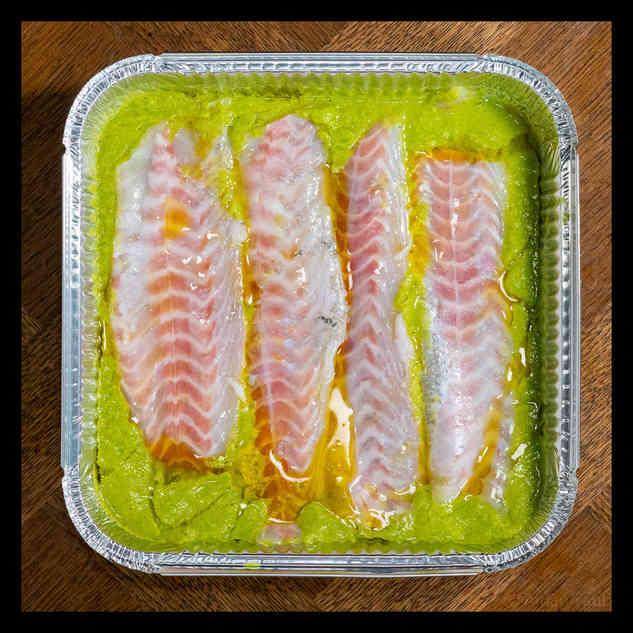 Seabass with sauce vierge