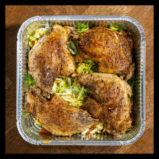 Confit duck leg with hispi cabbage