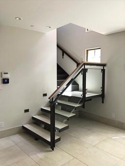 Custom Glass Staircase Railing