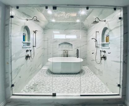 Master Bathroom Shower Door
