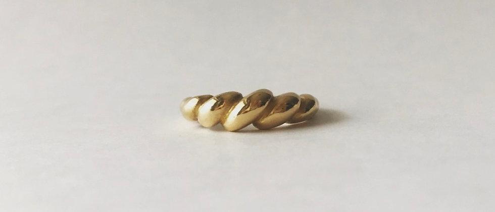 Twist dome ring (K18)