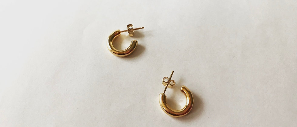Round earrings (K18)