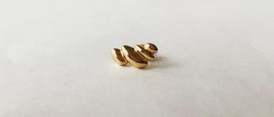 Twist dome earrings (K18)