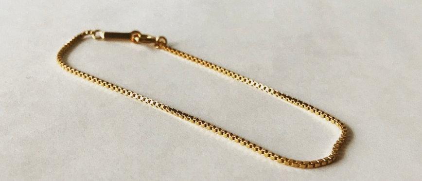 Venetian chain bracelet (K18)