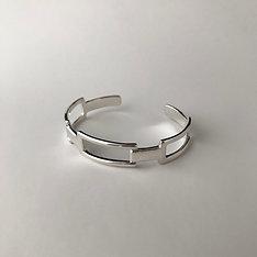 Squares bangle [S] (Silver)