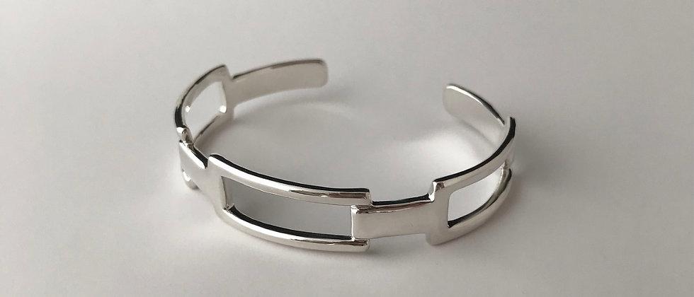 Squares bangle [M] (Silver)