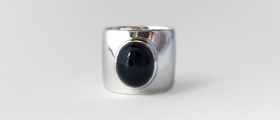 Iolite wide ring (Silver)