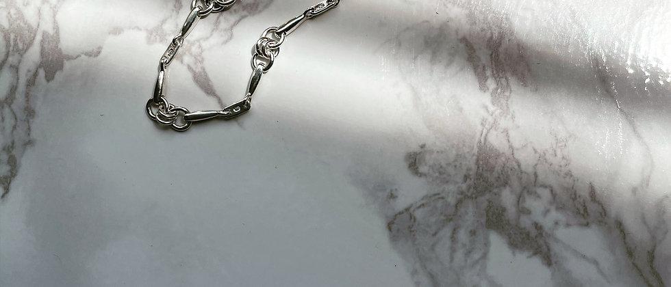 Pin-chain bracelet S (Silver)