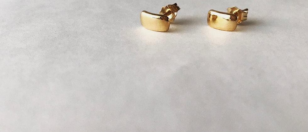 Rectangle earrings (K18)