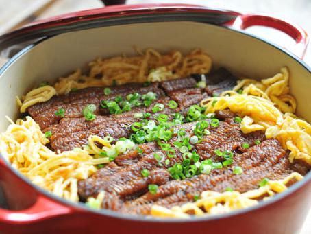 鰻のふっくら煮で作る炊き込みおこわ