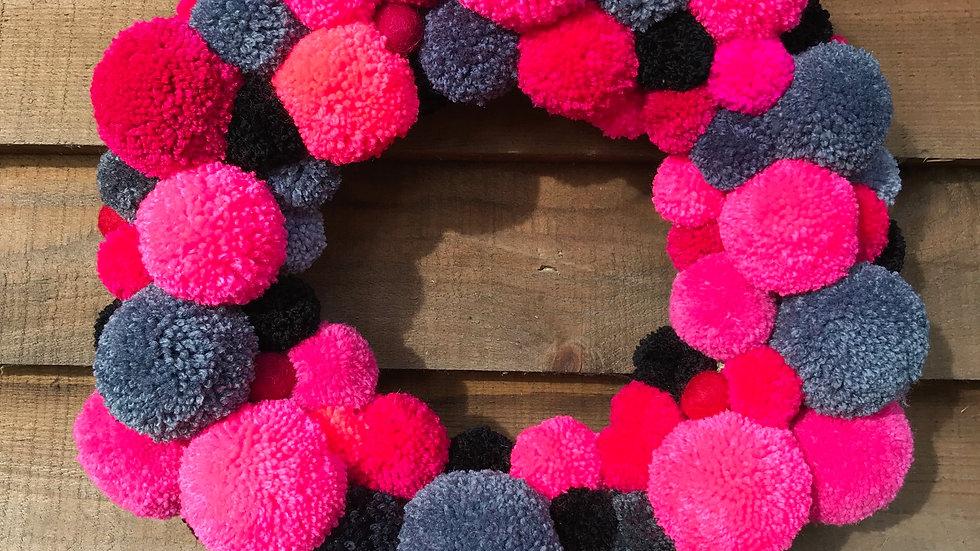 Bubble Gum Pink Wreath