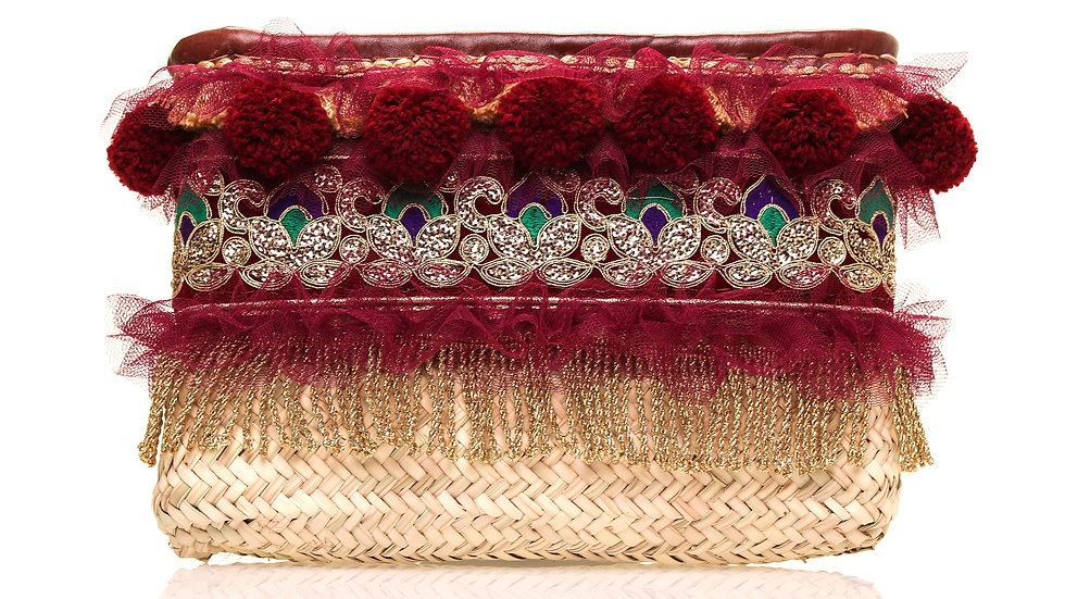 Maroon & Gold Clutch