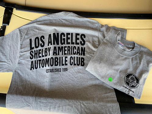 LASAAC Club T-Shirt - Grey w/Black letters (Mens)