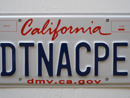 Updated! The DTNACPE License Plates Arrived!