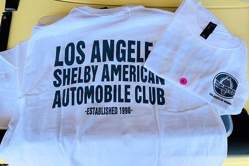 LASAAC Club T-Shirt - White w/Blue Letters (Mens)
