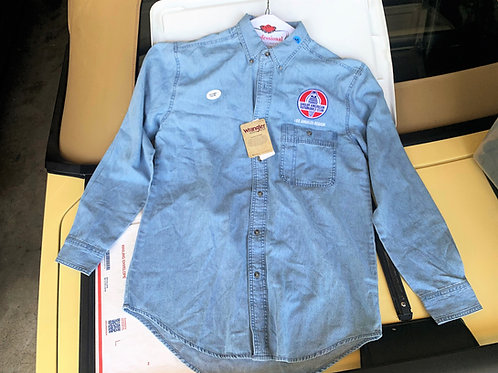 LASAAC Light Blue Denim Long Sleeve Shirt