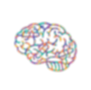 An illustrated image of a brain with three band-aids on it in different directions, full of many different colors, such as: teal, indigo, yellow, orange, and purple.
