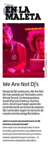 We Are Not Dj's en MondoSonoro