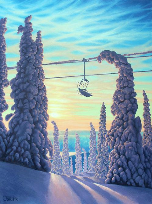 Last Chair: Purple Paradise Canvas