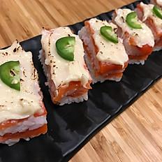 M2. Smoked Salmon Oshizushi