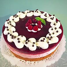 "Cocoa Chiffon Raspberry 8""  (Round)"