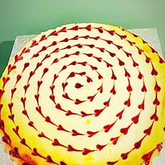"""Raspberry Cheesecake 9""""  (Round)"""