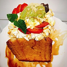 Matcha Redbean Honey Toast