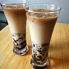 Coffee Jelly in Cafe Au Lait