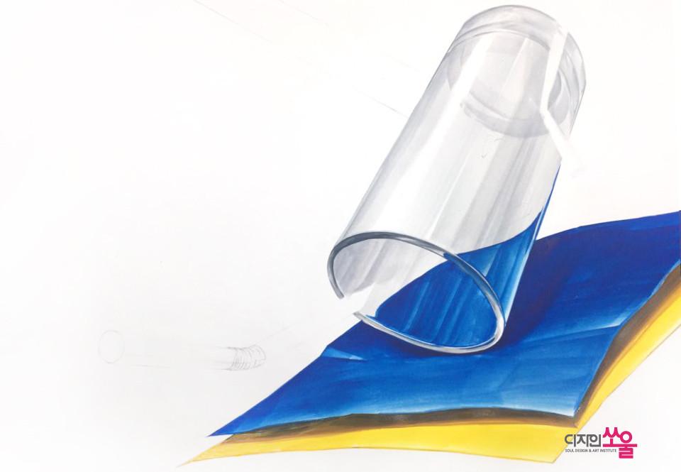 기초디자인 유리재질 밑색과정 1